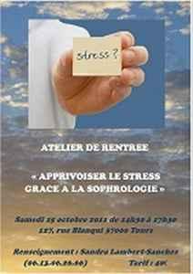 affiche atelier stress sophrologie