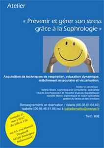 atelier de sophrologie gestion et prévention du stress