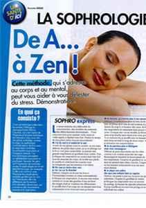 article sophrologie Ici Paris avril 2012
