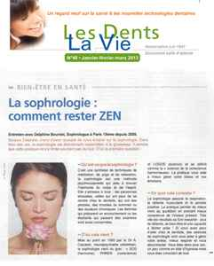 interview sophrologue Delphine Bourdet revue dentaire mars 2013
